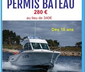 PERMIS CÔTIER : PROMOTION 280€